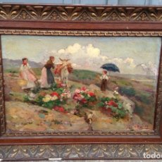 Arte - José María López Mezquita (1883-1954) Pintor Español - Óleo sobre madera - 67207901