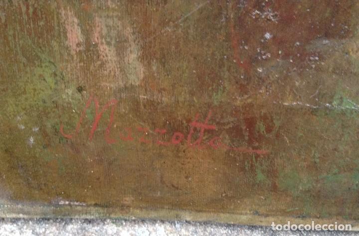 Arte: Federico Mazzotta (XX) Pintor Italiano - Óleo sobre tela - Foto 5 - 67208109