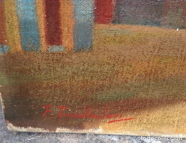 Arte: Francesco Trombadori (1886-1961) Pintor Italiano - Óleo sobre tela - Foto 5 - 67209865