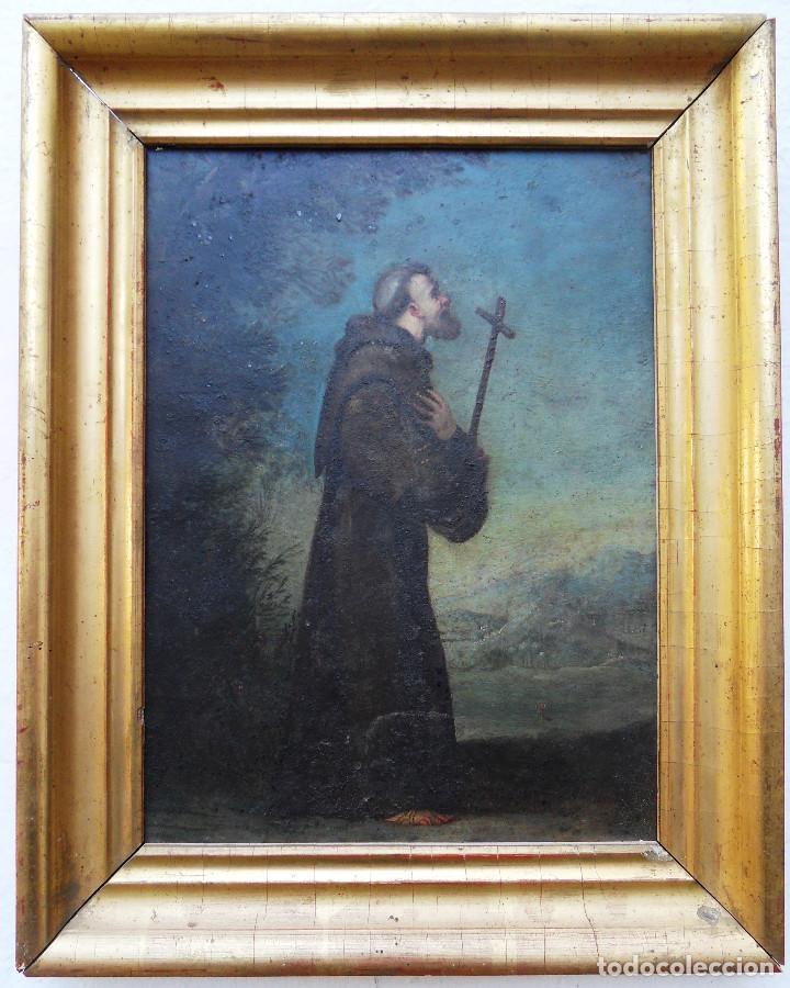 SAN FRANCISCO DE ASÍS .REF. 1169 (Arte - Pintura - Pintura al Óleo Antigua siglo XVIII)