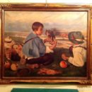 Arte: CUADRO ÓLEO DEL PINTOR ANTONIO SÁNCHEZ CORRALIZA 1909 VILLANUEVA DE LA SERENA MEDIDAS 108X91CM. Lote 67248053