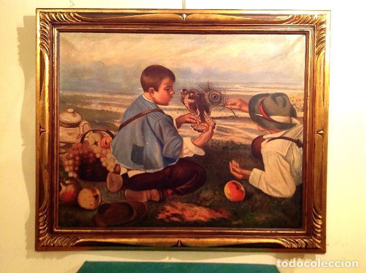 Arte: Cuadro óleo del pintor Antonio Sánchez Corraliza 1909 Villanueva de La Serena Medidas 108X91CM - Foto 2 - 67248053