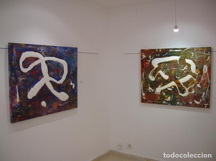 Arte: interesante PINTURA BARATA ABSTRACTA CUADRO BARATO LIENZO MODERNO ORIGINAL ARTE - Foto 2 - 42599752