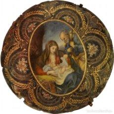 Arte: MARAVILLOSO ÓLEO , NACIMIENTO, PIEZA BARROCA. SIGLO XVIII. FIRMADA. VER FOTOS. Lote 67554001