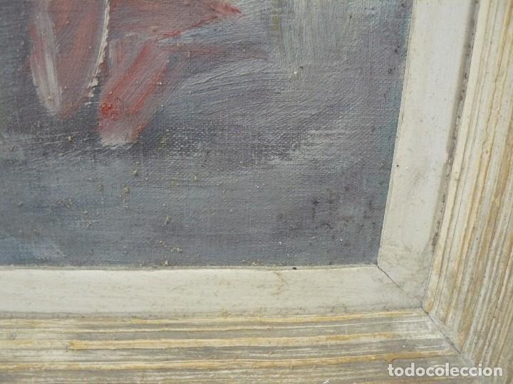 Arte: OLEO SOBRE TELA - FIRMA ILEGIBLE - ´BODEGON DE FLORES - Foto 5 - 67586965