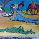 Arte: D. QUIJOTE Y SANCHO DERRIBADOS POR LOS GALEOTES, ÓLEO SOBRE MADERA 30X40 CM. DE CRESPO. Lote 67788333