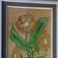Arte: FLORES, TECNCA MIXTA SOBRE TABLEX, FIRMADO. Lote 67829577