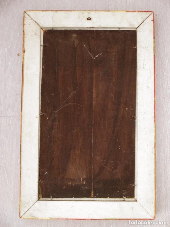 Arte: BANDOLERO. COSTUMBRISMO. ÓLEO SOBRE TABLA. 30 X 46 CM. ENMARCADO. - Foto 4 - 67938637