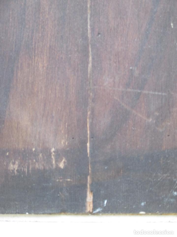 Arte: BANDOLERO. COSTUMBRISMO. ÓLEO SOBRE TABLA. 30 X 46 CM. ENMARCADO. - Foto 5 - 67938637