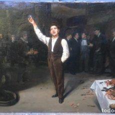 Arte: LUIS GRANER ARRUFI (1863-1929) PINTOR ESPAÑOL - ÓLEO SOBRE TELA (REENTELADO). Lote 68024889