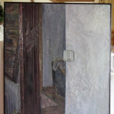 Arte: PINTURA FIGURATIVA ESCENA INTERIOR PUERTA RICARDO GONZÁLEZ. Lote 68039609