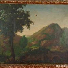 Arte: D1-023. PAISAJE RURAL. ÓLEO SOBRE LIENZO. FIRMADO. RAMON VIVES.1872.. Lote 68093593