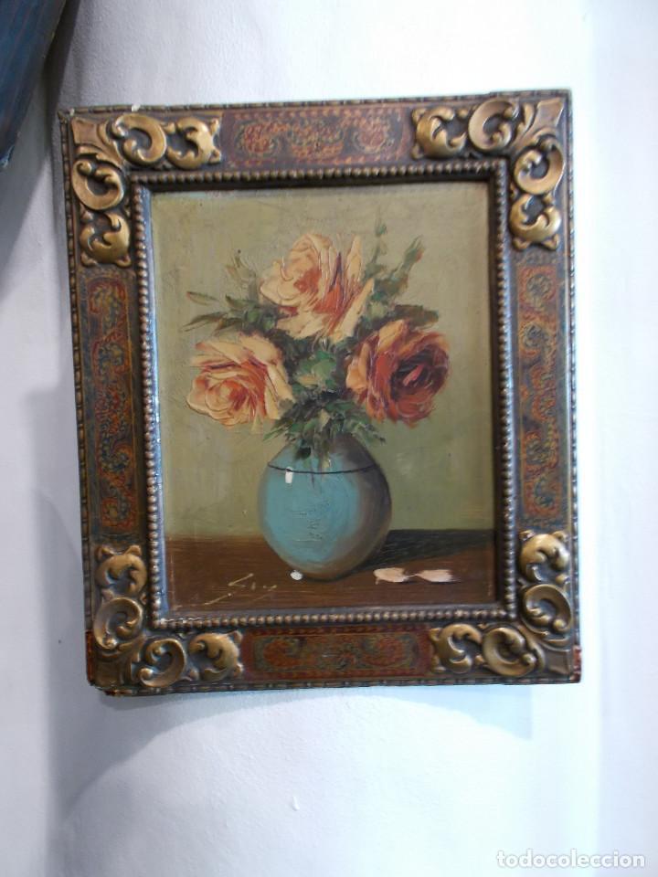 PINTURA ANTIGUA Y MARCO ANTIGUO (Arte - Pintura - Pintura al Óleo Antigua sin fecha definida)