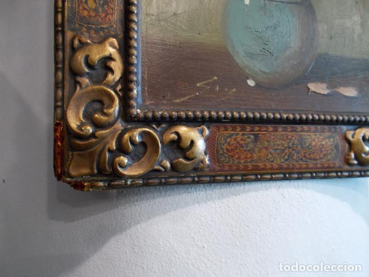 Arte: pintura antigua y marco antiguo - Foto 2 - 68240201