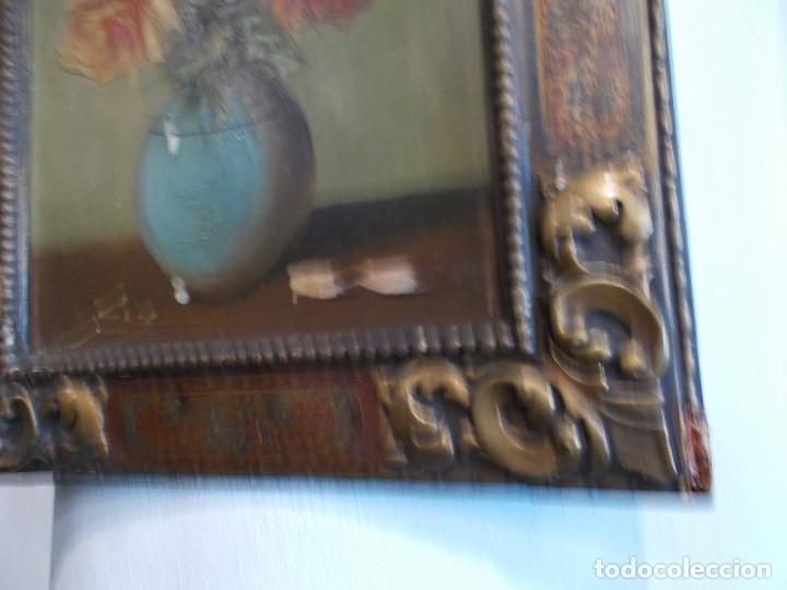Arte: pintura antigua y marco antiguo - Foto 3 - 68240201