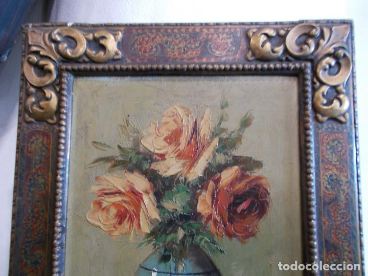 Arte: pintura antigua y marco antiguo - Foto 4 - 68240201