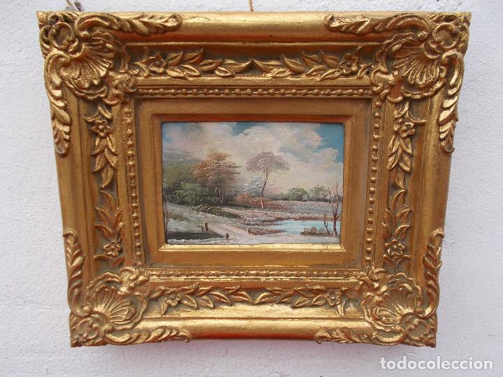 PINTURA EN MARCO DORADOS PAISAJE (Arte - Pintura - Pintura al Óleo Antigua sin fecha definida)