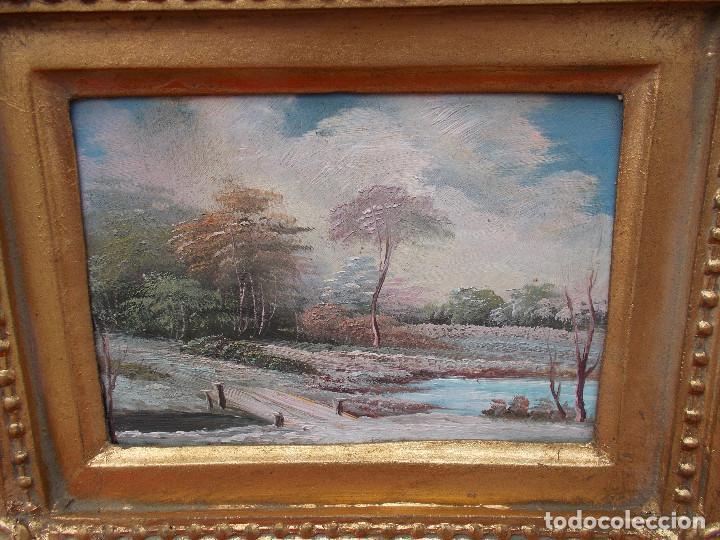 Arte: pintura en marco dorados paisaje - Foto 2 - 68240461