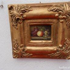 Arte: PINTURA EN MARCO DORADOS BODEGON. Lote 68240677