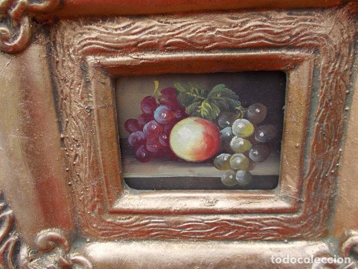 Arte: pintura en marco dorados bodegon - Foto 2 - 68240677