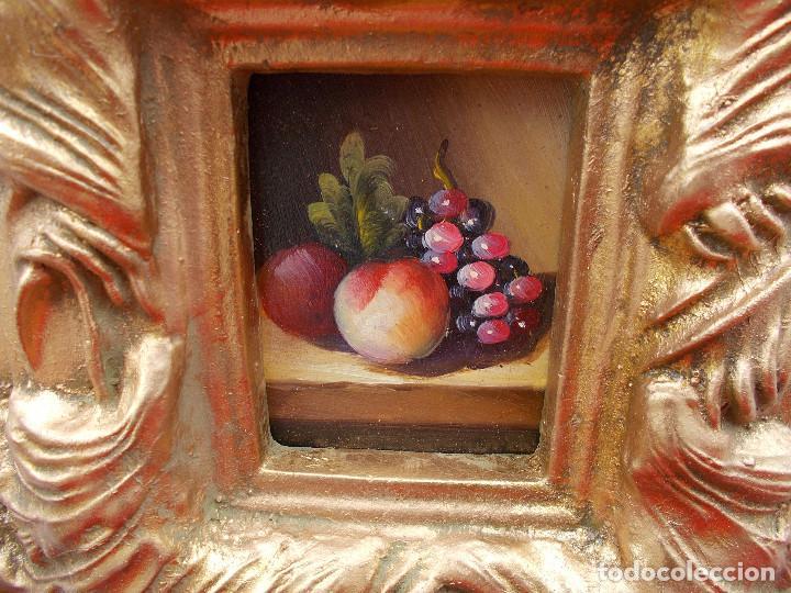 Arte: pintura en marco dorados bodegon - Foto 2 - 68240785