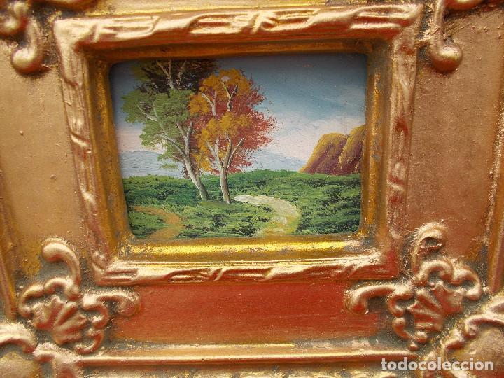 Arte: pintura en marco dorados arboles - Foto 2 - 68240949