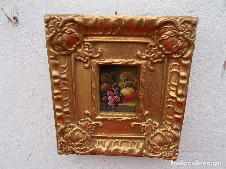 PINTURA EN MARCO DORADOS BODEGON (Arte - Pintura - Pintura al Óleo Antigua sin fecha definida)