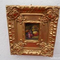 Arte: PINTURA EN MARCO DORADOS BODEGON. Lote 68241045