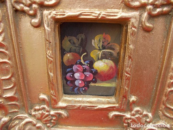 Arte: pintura en marco dorados bodegon - Foto 2 - 68241045