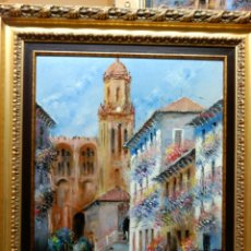 Arte: CUADRO OLEO PINTOR MALAGUEÑO MORENO ORTEGA. Lote 68308299