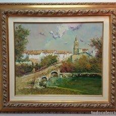 Arte: J.ESCODA-(1920-2012)-PINTURA ÓLEO/LIENZO,FIRMADO,AÑO-1993.(ARGANZÓN,PROV-VASCON).MED-BASTIDOR-46X55. Lote 68310941