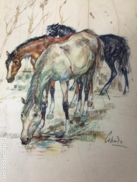 DIBUJO A COLOR-FIRMADO COLLADO C.1930 (Arte - Pintura - Pintura al Óleo Contemporánea )