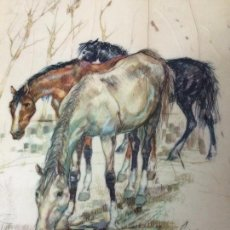 Arte: DIBUJO A COLOR-FIRMADO COLLADO C.1930. Lote 68313853