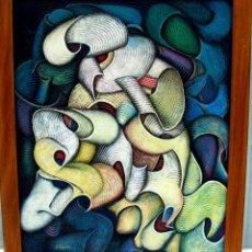 Arte: JOSE ARJONILLA 1954 EN ANDUJAR /DEL CANTE FLAMENCO NOCHE DE CARNAVAL AÑO 2002 81X100CM. Lote 68580889