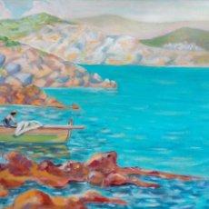Arte: PESCADOR, E.R. OLEO/LIENZO 60X45. Lote 68633334