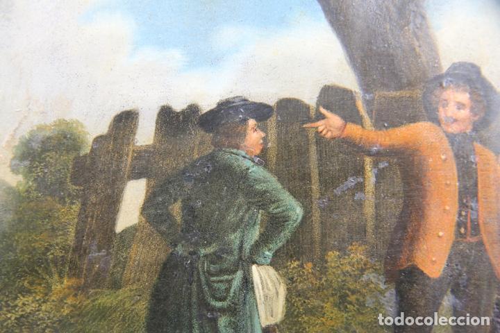 Arte: OLEO SOBRE LATA FINALES DEL XVIII PRINCIPIOS DEL XIX ESCENA POPULAR - Foto 5 - 33132832