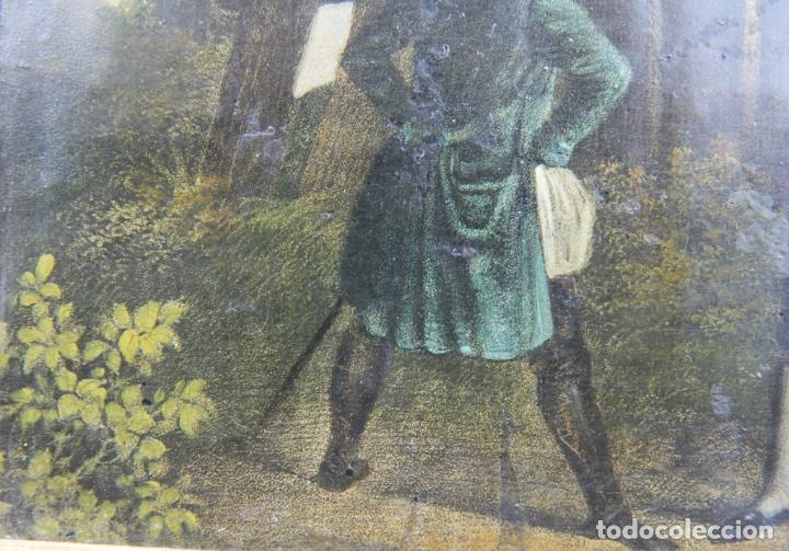 Arte: OLEO SOBRE LATA FINALES DEL XVIII PRINCIPIOS DEL XIX ESCENA POPULAR - Foto 7 - 33132832