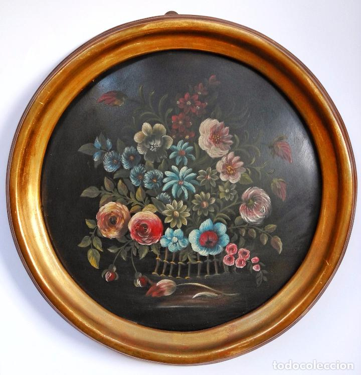 MARAVILLOSO BODEGÓN OLEO SOBRE TABLA, POSIBLEMENTE FINALES DEL XIX (Arte - Pintura - Pintura al Óleo Antigua sin fecha definida)