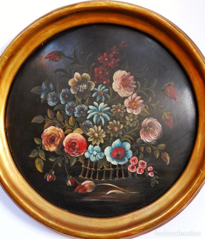 Arte: Maravilloso bodegón oleo sobre tabla, posiblemente finales del XIX - Foto 2 - 69052653