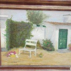 Arte: ÓLEO SOBRE LIENZO, CARMEN F. DIAZ. Lote 69247783