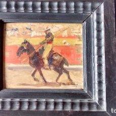 Arte: ÓLEO SOBRE TABLA DE MARTÍN VIDAL CORELLA. Lote 69267365