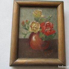 Arte: PEQUEÑO CUADRITO DE SOLANO-ÓLEO SOBRE TABLEX, 10 X 7.5 CM,. LA PINTURA. Lote 69435937