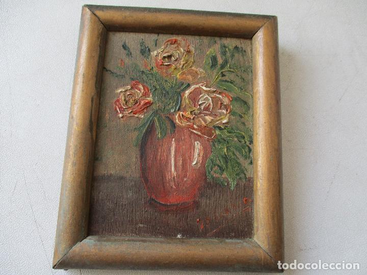 PEQUEÑO CUADRITO DE SOLANO-ÓLEO SOBRE TABLEX 10 X 7.5 CM,. LA PINTURA. (Arte - Pintura - Pintura al Óleo Contemporánea )