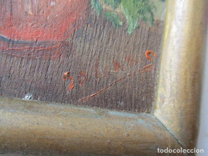 Arte: PEQUEÑO CUADRITO DE SOLANO-ÓLEO SOBRE TABLEX 10 X 7.5 CM,. LA PINTURA. - Foto 2 - 69436057