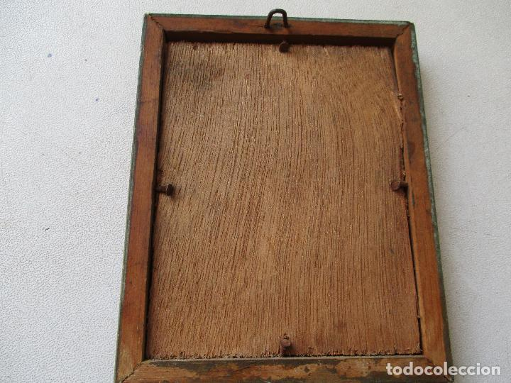 Arte: PEQUEÑO CUADRITO DE SOLANO-ÓLEO SOBRE TABLEX 10 X 7.5 CM,. LA PINTURA. - Foto 3 - 69436057