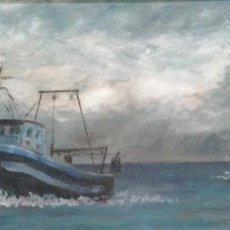 Arte: ÓLEO SOBRE MADERA DE FIRMADO DOMENECH, ENMARCADO EN SABADELL. Lote 69478621