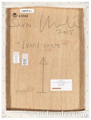 Arte: JUAN USLÉ (B. 1954) . INARI (NORTE) Original painting . Signed, titled and dated 61.6 x 46.3 cm - Foto 2 - 69512669