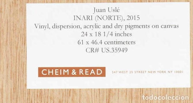 Arte: JUAN USLÉ (B. 1954) . INARI (NORTE) Original painting . Signed, titled and dated 61.6 x 46.3 cm - Foto 7 - 69512669