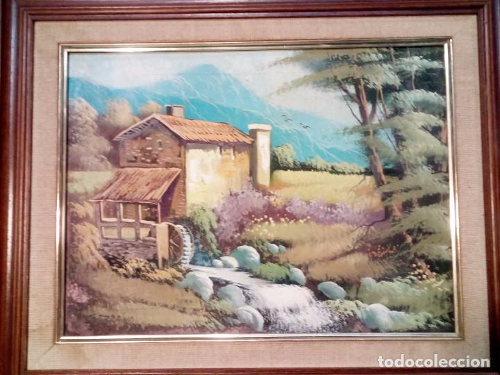 SERRANO,PRECIOSO Y ORIGINAL CUADRO AL OLEO FIRMADO 55/45 CM (Arte - Pintura - Pintura al Óleo Antigua sin fecha definida)
