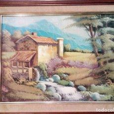 Arte: SERRANO,PRECIOSO Y ORIGINAL CUADRO AL OLEO FIRMADO 55/45 CM. Lote 69516893